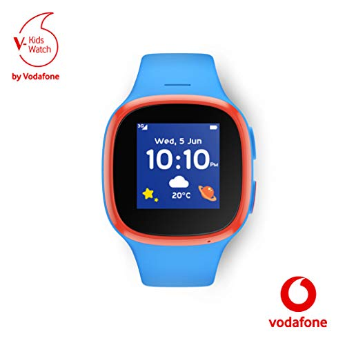 V-Kids Watch by Vodafone - Smartwatch mit GPS-Tracker und SOS-Alarmknopf, blau