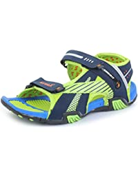 Trase Men's Streax Blue/Green Sandals & Floaters
