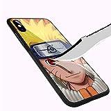DEPING DP-28 Naruto Super Design étui iPhone XR, Coque arrière en Verre trempé et...