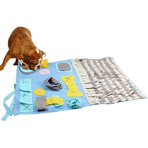 Alaof SchnüFfelteppich Hund Schleppend FüTterung SchüSsel,SchnüFfeln Teppich Zum Hunde SchnüFfeln Pad Geruch Sensation Trainieren Matte Hund Behandeln Spielzeug HüNdchen Puzzle Futtersuche (Behandeln Und Trainieren)