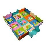 Trimming Shop 9 Puzzle-Spielmatte, ungiftig, extra dick, faltbar, Schaumstoff-Fliesen zum Krabbeln, Aktivitäten, 30,5 cm Design-3