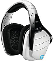 Logitech G933 Gaming Headset Artemis Spectrum 2.4 GHz Wireless 7.1 Surround Sound Pro for PC, Xbox One and PS4 - White (981-0