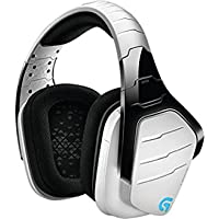 Logitech G933  Kabelloses Gaming Headset Artemis Spectrum (2,4 GHz mit 7.1 Surround Sound Pro für PC, Xbox One und PS4) weiß