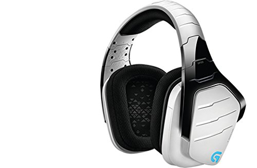 Logitech cuffia con microfono da gioco g933 artemis spectrum, 2.4 ghz wireless, 7.1 surround sound pro per pc, xbox one e ps4, bianco