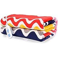 Manta eléctrica de moda, tela de franela exquisita Doble alambre de calefacción en espiral Calentamiento