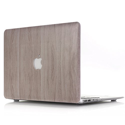 Coque Macbook Retina Pro 13 2012-2015, L2W Plastique Hard Shell Snap On coque pour MacBook Pro 13 pouces avec Retina model: (A1502 / A1425) NO CD-ROM[Motif de texture du bois MW-2]