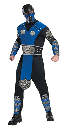 Mortal Kombat Sub-Zero Herrenkostüm, (Sub Kostüm Halloween Zero)
