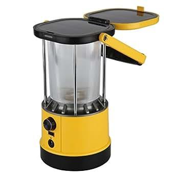 Excelvan SL01LED 8LEDs Lanterne solaire de camping portable 2.2W 5V USB output pour charge téléphone portablr randonnée camping urgences ouragans pannes - Jaune