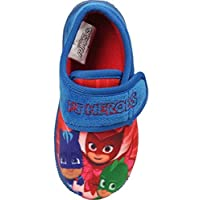 Socks Uwear PJ Masks Boys Pierce Touch Close Slippers - Blue - UK 7 Child - EU 24