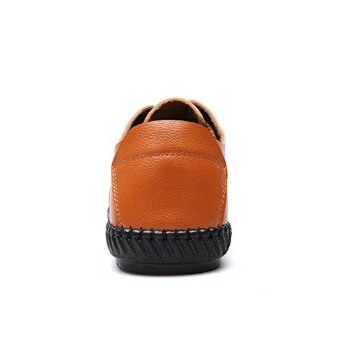 Sunny&Baby Hommes Classique Chaussures Lisse Véritable Cuir Supérieur Doux Plat Semelle Décontracté Mocassin pour Messieurs Résistant à labrasion ( Color : Brown , Size : 44 EU ) Brown
