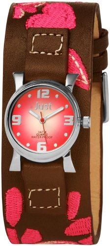 Just Watches Just 48-S9288A-PK - Orologio da polso da donna, cinturino in pelle colore marrone