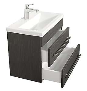 badm bel mars 600 slimline anthrazit gemasert k che haushalt. Black Bedroom Furniture Sets. Home Design Ideas