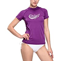 Baleaf Women's Surf UV Sun Protective Short Sleeve Rashguard UPF 50+