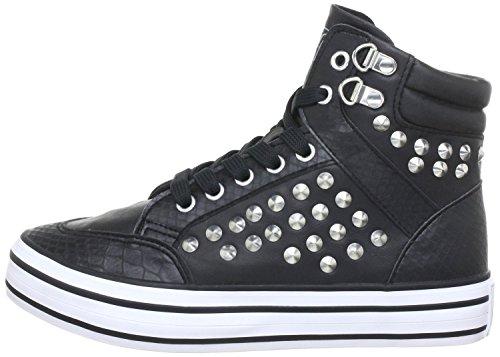 Buffalo 3316167Hightop Baskets Black Noir - Noir