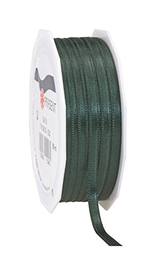 Prasent C.E. Pattberg GmbH 6 mm 50 m Satin Double Face Band Rolle, Hunter Green - Hunter Green-zubehör