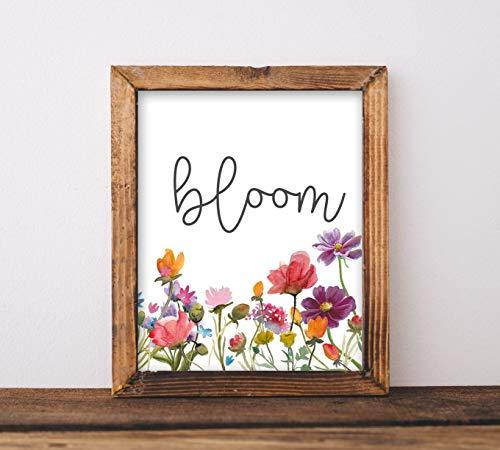 are Kunst Bloom Spielzimmer Schild Klassenzimmer Dekor Baby Mädchen Kinderzimmer inspirierendes Zitat Blumen Graduierung Geschenk Printables ()