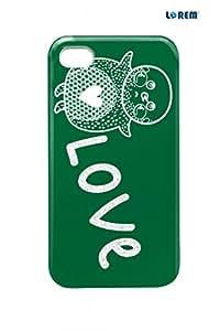 Lorem Back Cover For Apple iPhone 4/4S -Multicolor-L20635