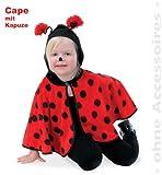 FASCHING 11293 Kinder-Kostüm Cape Marienkäfer Plüsch Umhang NEU/OVP