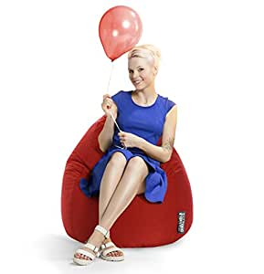 MAGMA Pouf Easy rouge (taille: XL, 220 l)