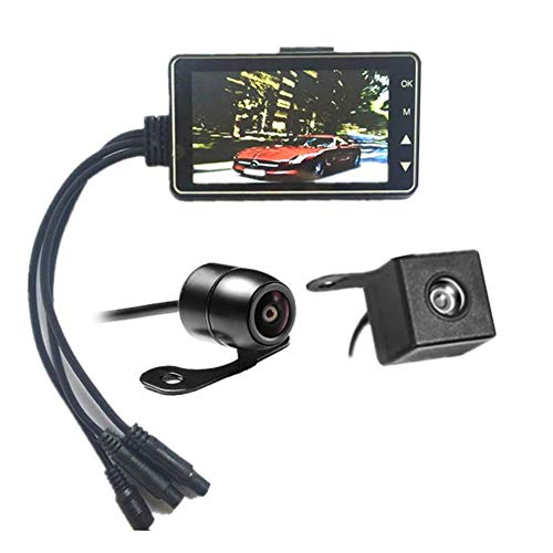 orcycle DVR HD Dash Cam Front Rear Video Recorder Motorbike Camcorder ()