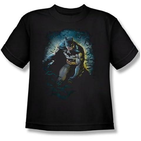 Batman - - Cueva de los Murciélagos jóvenes Camiseta En Negro