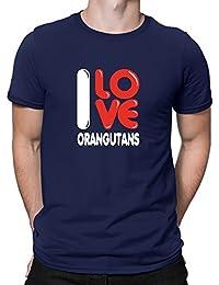Teeburon I love Orangutans T-Shirt