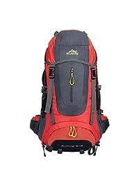 Mochila Outdoor escalada bolsas de hombro hombres mochila exterior impermeable bolsas casual 60L rojo de sacos a granel