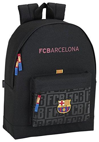 FC Barcelona 611725174 Mochila Escolar, 43 cm, Negro