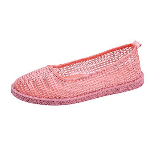 BaZhaHei-Zapatillas Zapatillas de Mujer Deporte Planas de Malla  Transpirable Zapatos Casuales de Zapatos de 629224f0194c