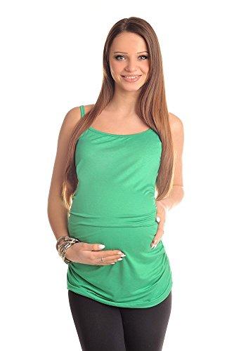 Purpless Maternity Top Di Maternità Senza Maniche 8010 Green