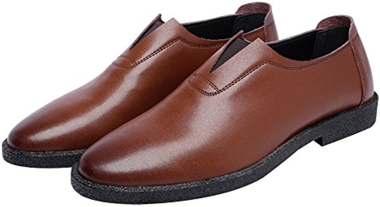 Lederschuhe Herren Freizeitschuhe Matte Echtleder Loafers Slip on Breathable Toe OxfordsLederschuhe Freizeitschuhe Echtleder Loafers Breathable