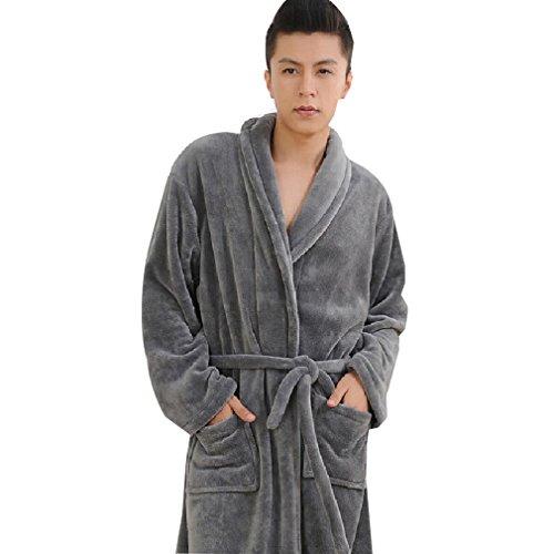 WTUS Robe Robe plus épaisse De Chambre Fourrure, Peignoir Homme Nouveau 2017