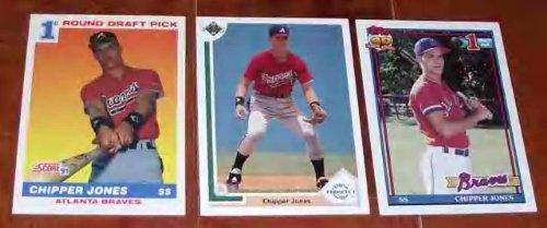 size 40 64257 ea7e3 Lot of 3 1991 Chipper Jones Rookie Cards - Topps Upper Deck Score by Topps  Upper Deck Score