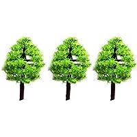 Xiton Mini paisajes Paisaje Arquitectura árboles Modelo árboles Miniatura Hada jardín árbol Planta Bricolaje Artesanía jardín Ornamento árbol de simulación 3Pcs
