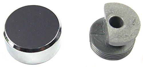 Strauss - Patte à glace ronde - Laiton chromé Ø 18 mm - Lot de 4