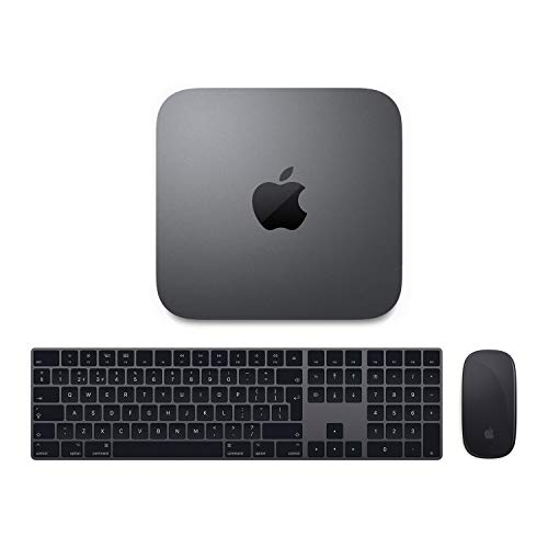 New 2019 Steady Comps Ltd. Mac/3.0Ghz Quad-Core i5/64GB RAM/256GB SSD/Intel UHD Graphics 630/New Space Grey Numerical Keyboard and Mouse/Triple Booting with macOS and Windows 7 and Windows 10 Pro (Space Mouse Pro Wireless)