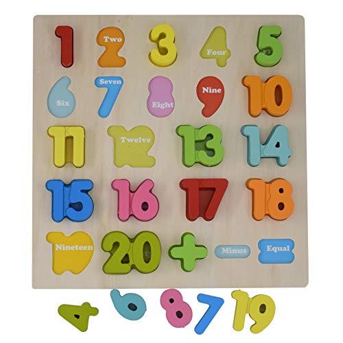 Magnetpro Bebé Rock Número de Madera Que aprende Jigsaw Puzzle Board Shape Numbers Puzzle Toy para niños 23 Piezas