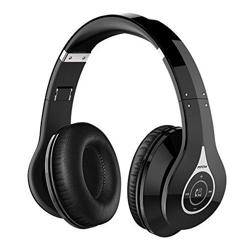 Auriculares Inalámbricos, Mpow Auricular Headphone Cascos Bluetooth Plegable con Micrófono Manos Libres y Hi-Fi Sonido Estéreo Orejeras de Memoria Suave, 13 Horas de Reproducción para PC, TV, Tablet, Móviles Android o iPhone 6 7 Plus