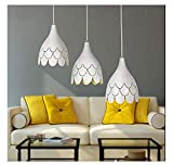 SZGD Kronleuchter, moderner minimalistischer Kronleuchter/kreative LED DREI Restaurant Mahlzeiten Kronleuchter/es Schreibtischlampe Persönlichkeit/Esszimmer Küche Lampe hängende Linie,C-intelli