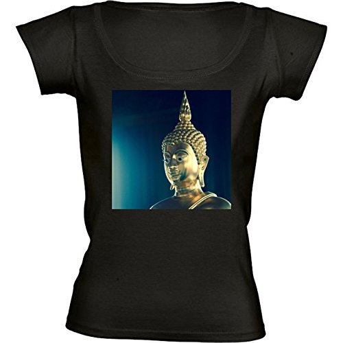 camiseta-negro-con-cuello-redondo-para-mujeres-tamano-l-buda-by-wonderfuldreampicture