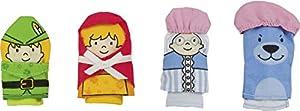 Goki 51654 - Marionetas De Dedo Caperucita Roja (4 Piezas Tela) (+3)