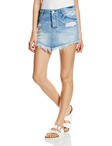 Silvian Heach Miniskirt Baima, Gonna Donna, Denim Chia, 27