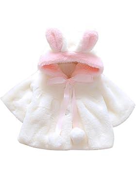 Giacca del mantello del cappotto di inverno ANKOEE della pelliccia della neonata vestiti caldi spessi