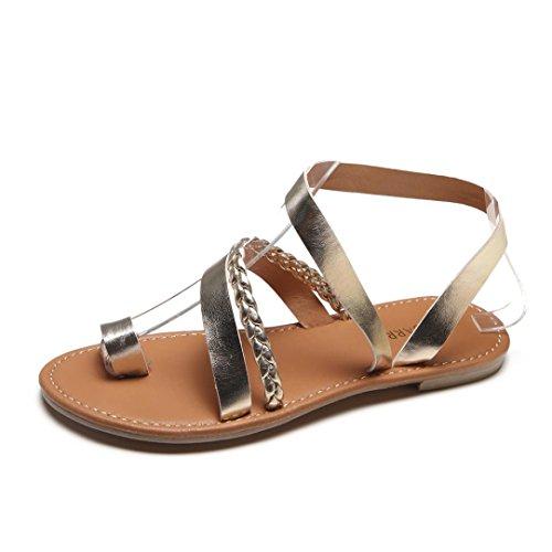 Fitters Footwear - Zapatillas de Material Sintético para mujer Plateado plateado, color Dorado, talla EUR 43