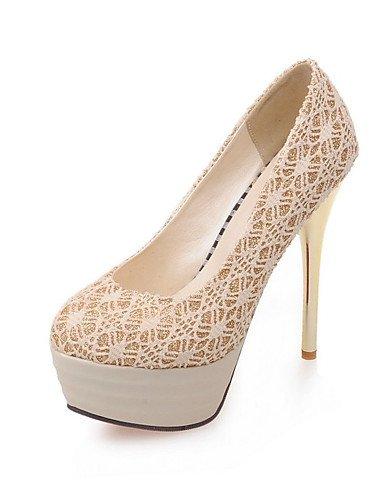 WSS 2016 Chaussures Femme-Mariage / Habillé / Soirée & Evénement-Noir / Rouge / Argent / Or-Talon Aiguille-Talons / A Plateau-Talons-Dentelle black-us8.5 / eu39 / uk6.5 / cn40