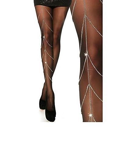 Frau Strand Bikini Quaste Bauchkörperkette Gürtel Bein Kette Taille Kette Strand Harness Schmuck