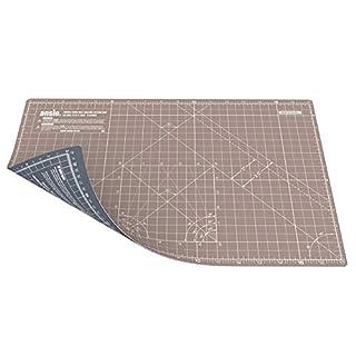 ANSIO Schneidematte Selbstheilende A3 Doppelseitige 5 Schichten sassend für Kunst, Nähen - Imperial/Metric 17 x 11 Zoll / 42 x 27 cm- Braun / Grau