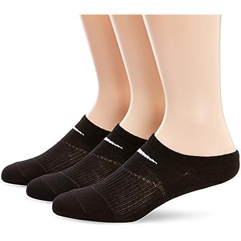 Nike Lightweight No-Show - Calcetines, 3 pares, Unisex, Negro/Blaco, Talla M