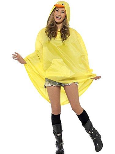 shoperama Regenponcho Regenmantel Regenschutz mit Kapuze Karneval Kostüm -