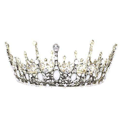 zeit Royal Diadem Krone Brautschmuck Strass Tiara Krone für Festzug Hochzeit Brautschmuck Beauty Contest Ball Party (Antik Bronze ()